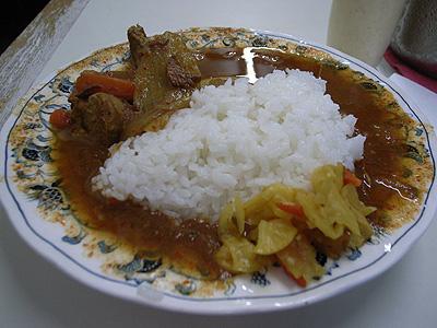 印度風カリーライス