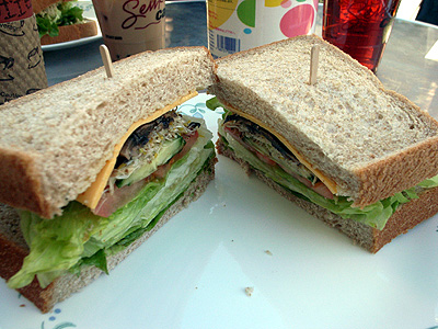 Senka cafe vegetarian sandwich