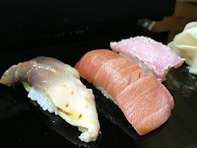 金寿司 ほっき貝炙り トロ 鰹炙り