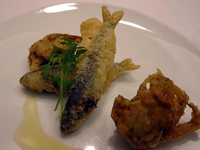 カフェ アロマティカ 若鮎と蕗のフリット