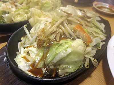 餃子 照井 野菜いため
