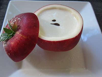 無彩庵 あかねリンゴのパリソワール リンゴのジュレ