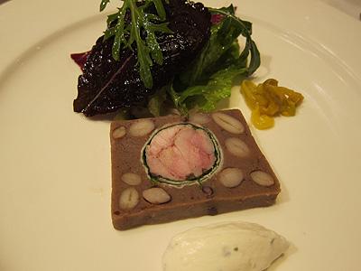 エルミタージュ ドゥ タムラ (Hermitage de Tamura) いろいろな種類の豆類と鶉のテリーヌ