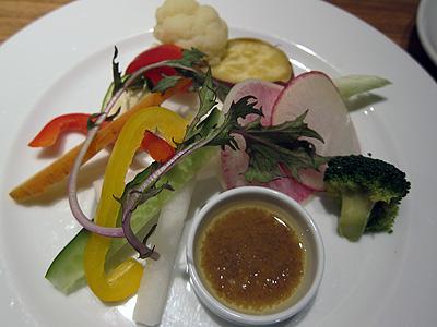 ラ カサリンガ (La Casalinga) 有機野菜のバーニャカウダ