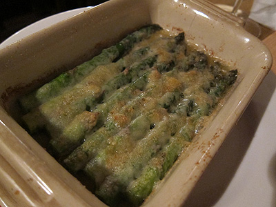 ヴィノテカ・キムラ (Vinoteca Kimura) グリーンアスパラガスのパルメザンチーズ焼き