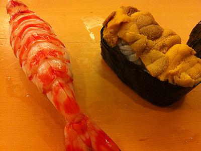 福寿司 うにとえび