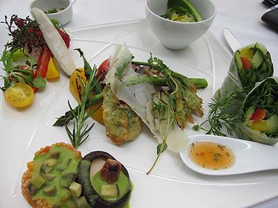 ガーデンレストラン 野菜のプレート