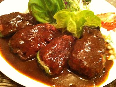 久住 (くじゅう) ピーマンの肉詰め定食