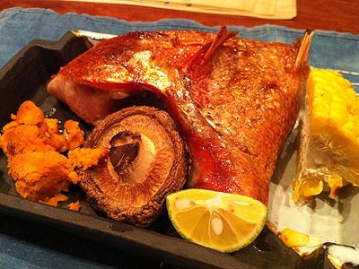 銀座 やまぐち 金目鯛のカマ焼き